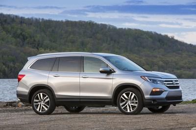 Sales of the Honda Pilot gained 57 percent as American Honda set numerous sales records in November.