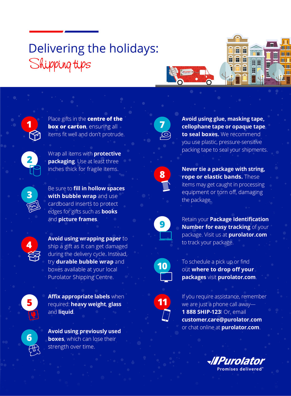 Delivering the holidays: Shipping tips (CNW Group/Purolator Inc.)