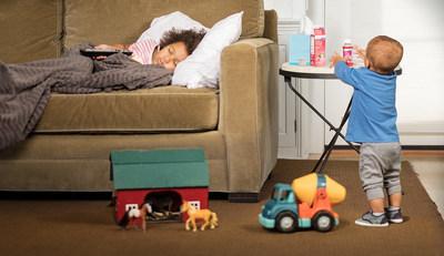 Siempre guarda los medicamentos fuera del alcance y de la vista de los niños después de cada uso.