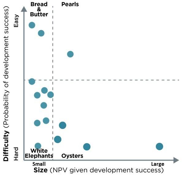 Figure 1.  Portfolio Navigator shows sources of clutter in innovation/R&D portfolios.