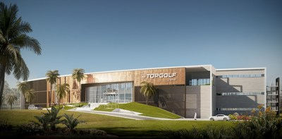 Rendering of Topgolf Dubai, opening in 2019
