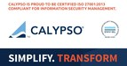International Organization for Standardization recognizes Calypso Technology for following best practices for information security management of its Cloud Services (PRNewsfoto/Calypso Technology)