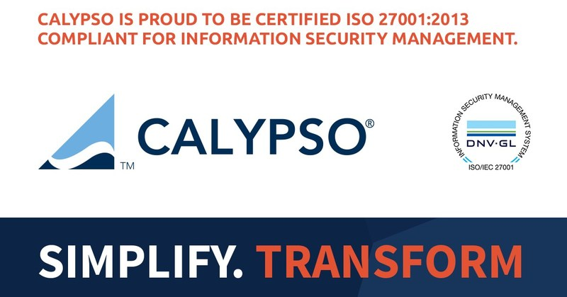 International Organization for Standardization recognizes Calypso Technology for following best practices for information security management of its Cloud Services