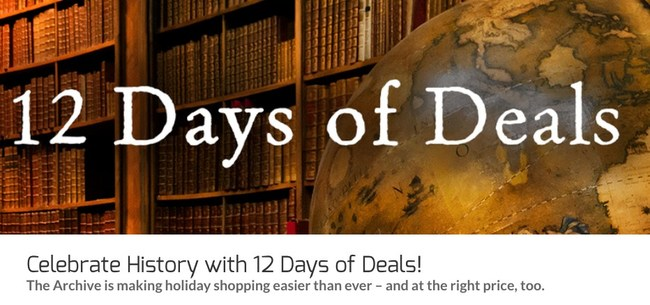 12 Days of Deals on The Archive https://explorethearchive.com/the-archives-12-days-of-deals