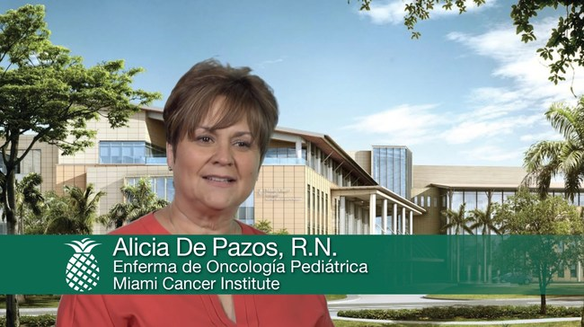 """""""The educational tools we created in English and Spanish enable our patients and families to be guided during and after treatment by their original care team."""" said Alicia De Pazos, RN, Miami Cancer Institute."""