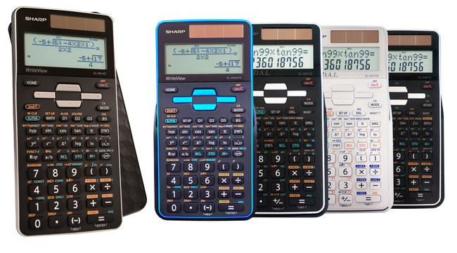 The new series of Sharp scientific calculators features a matte finish with a 3D light-reflecting cover.