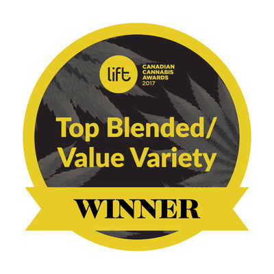 Top Blended Value Variety Winner - Blueberry Cheesecake, Organigram (CNW Group/OrganiGram)