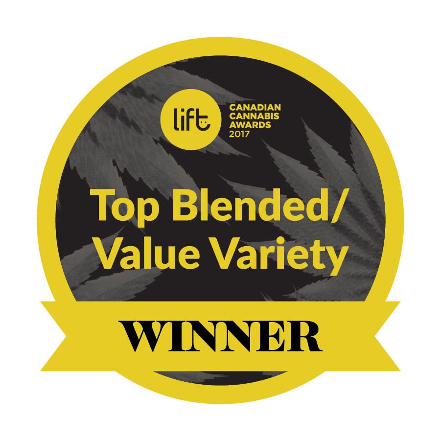 Top Blended Value Variety Winner - Blueberry Cheesecake, Organigram (CNW Group/OrganiGram)
