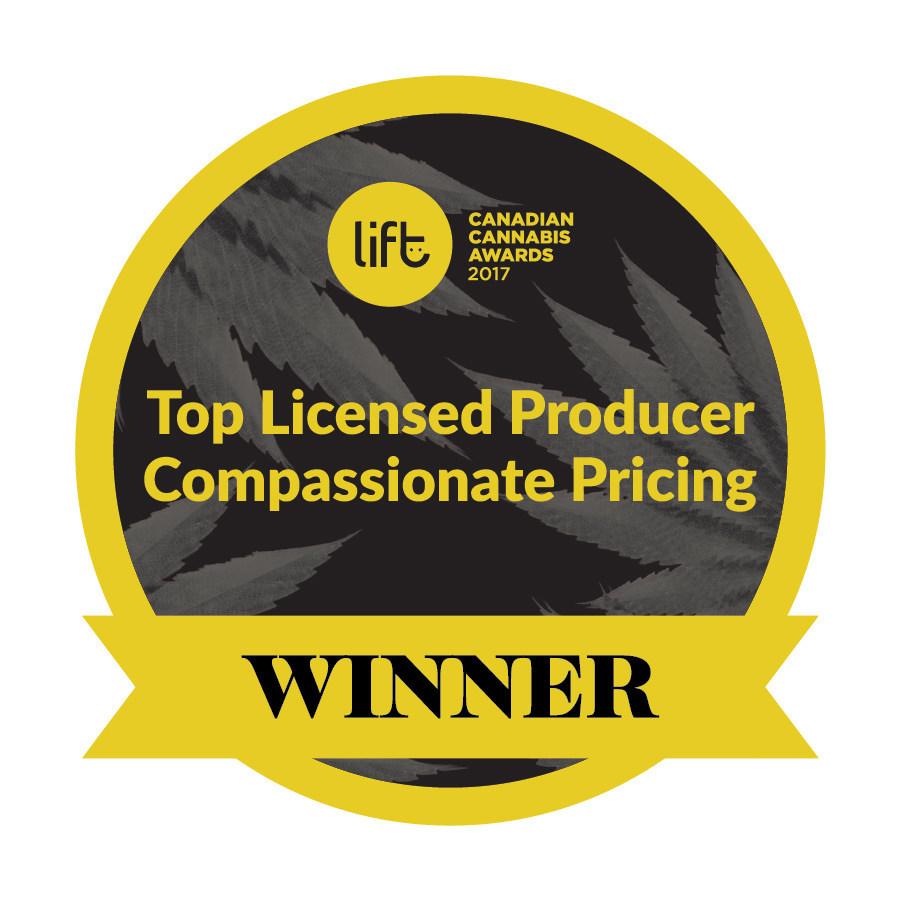 Top Licensed Producer Compassionate Pricing Winner - Organigram (CNW Group/OrganiGram)