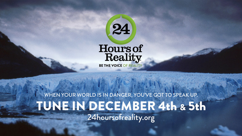 On December 4-5, join former Vice President Al Gore, Climate Reality, and an all-star cast of artists, thought leaders, business visionaries, politicians, musicians, and more for the global broadcast event 24 Hours of Reality: Be the Voice of Reality, celebrating the climate activism happening all around the planet and calling on each of us to make a difference. The show is produced by ShoulderHill for The Climate Reality Project.