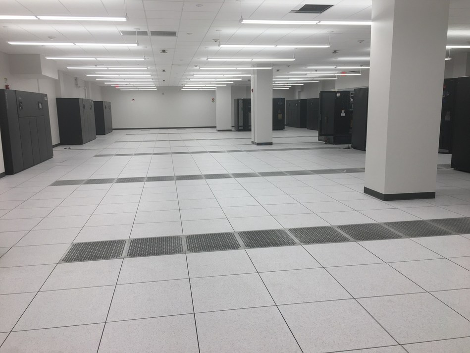 Newly expanded raised floor space at the Expedient data center at Nova Place in Pittsburgh.