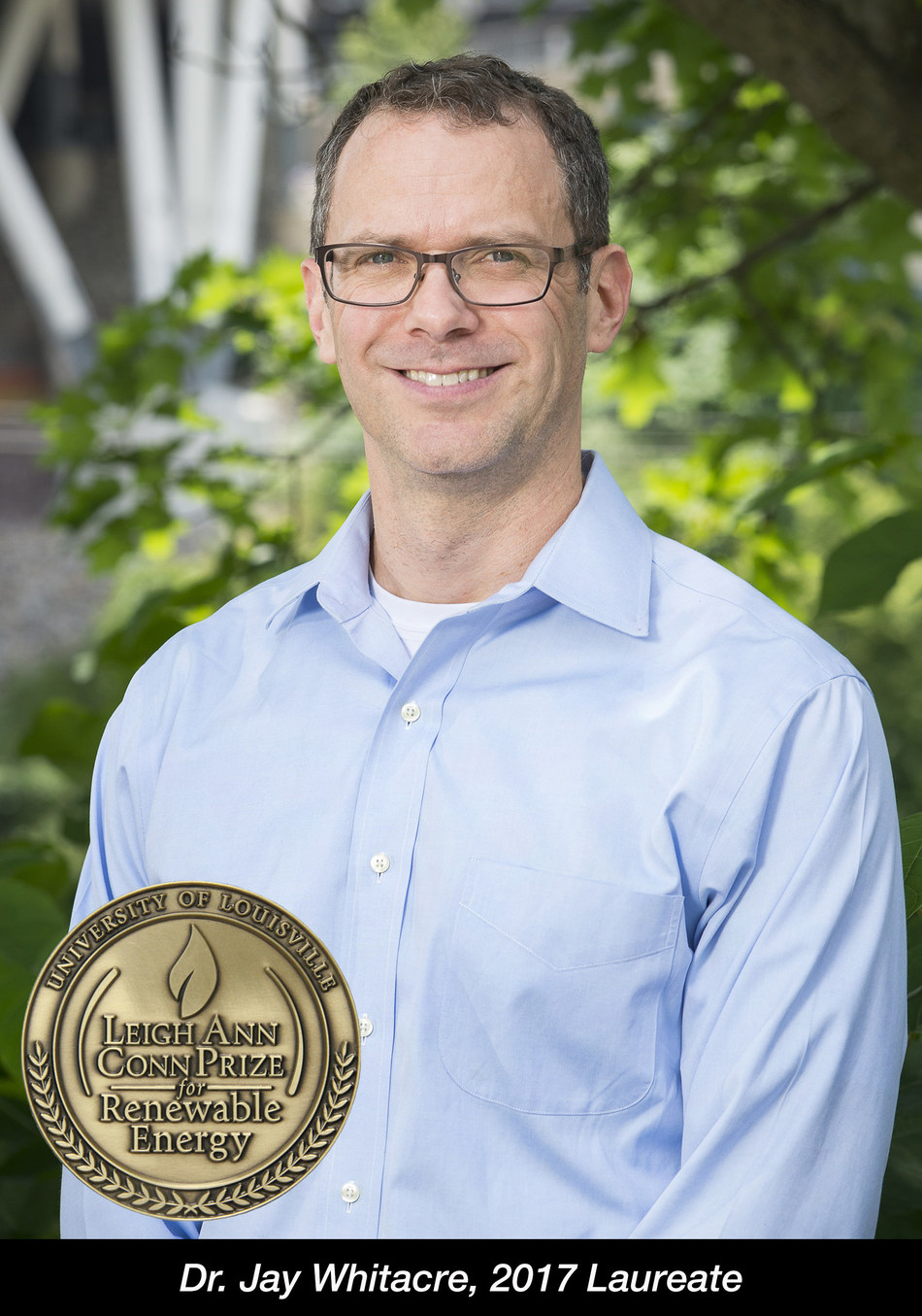 Jay Whitacre is the winner of the 2017 Leigh Ann Conn Prize for Renewable Energy from the University of Louisville.