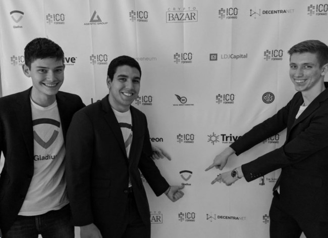 The Gladius Co Founders :  Alex, Marcelo and Max