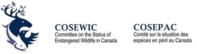 Logo : Comité sur la situation des espèces en péril au Canada (COSEPAC) (Groupe CNW/Comité sur la situation des espèces en péril au Canada)