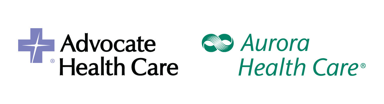 Advocate Health Care and Aurora Health Care Dual Logo