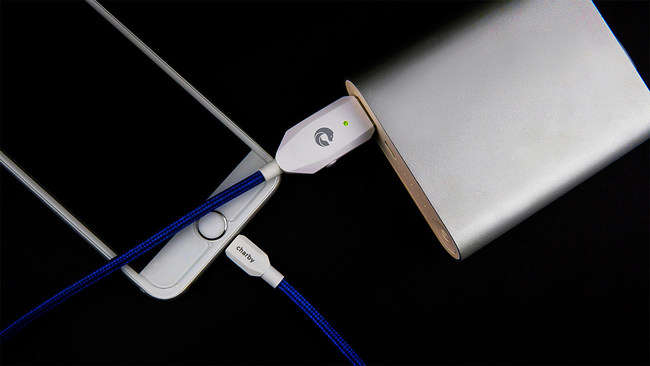 Charby Sense, the industry's smartest and most durable charging cable which supports Apple, Android, and Type-C devices.