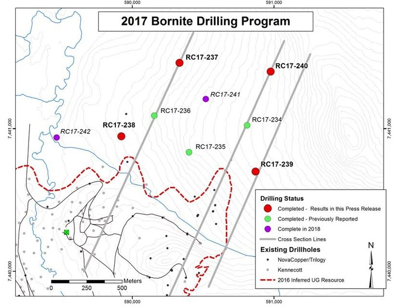 Figure 1 - MAP SHOWING LOCATION OF CURRENT DRILLING (CNW Group/Trilogy Metals Inc.)