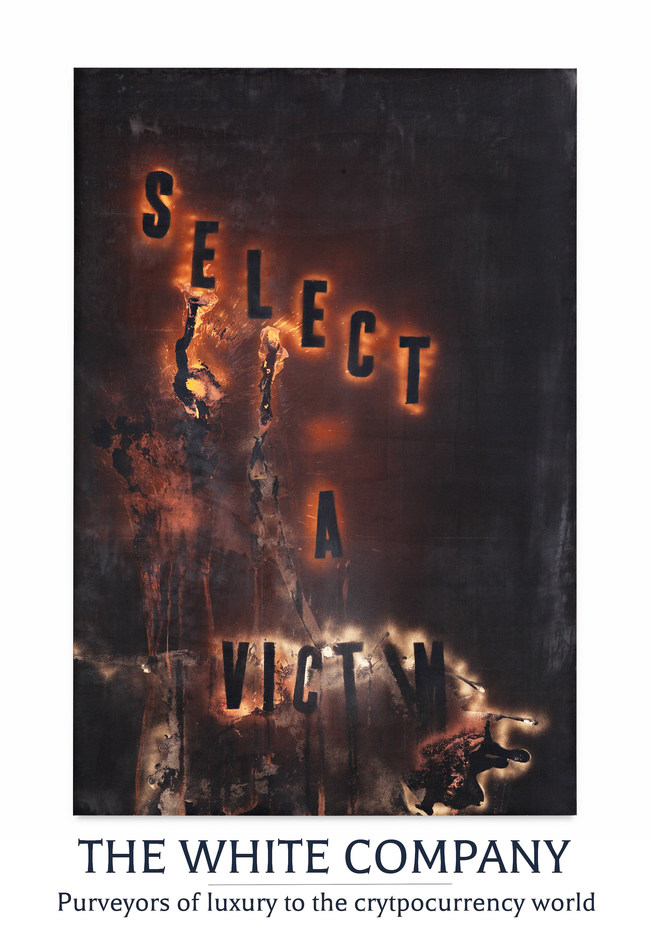 """""""Select A Victim"""" by Mark Flood sold by The White Company for Bitcoin"""