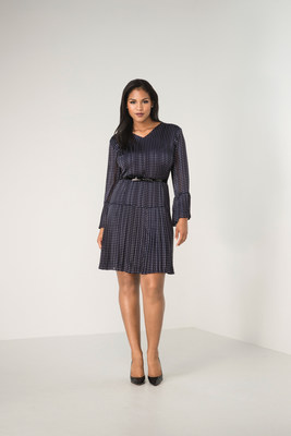 Pleated Bell Sleeve Dress by The Limited – One of the brand's new curvy options.