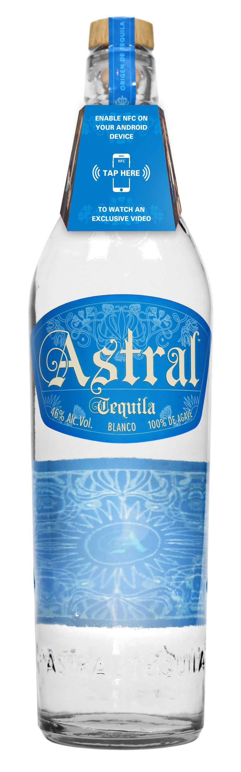 Astral Tequila with NFC neck tag