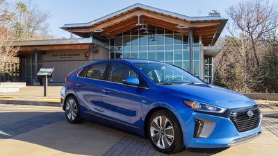 Hyundai donates six Ioniq Hybrids to to the National Park Service for use by staff in three national parks. Two Ioniqs were given to each park—Blue Ridge Parkway in Virginia and North Carolina, Santa Monica Mountains National Recreation Area in California, and National Capital Parks (East) in Washington, D.C.