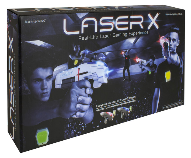 "NSI recommends Laser X only be purchased from authorized retailers like Target, WalMart, Toys ""R"" Us, Learning Express or directly from GetLaserX.com to make sure the thieves don't benefit from their crime."