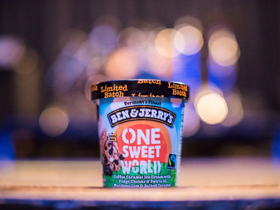 Ben & Jerry's announces their support for the Poor People's Campaign, including a portion of the proceeds from their new One Sweet World Flavor.