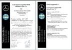 Die internationalen UL-Standorte in Krefeld und Köln werden von Daimler AG als WEB 2020-Labor zugelassen