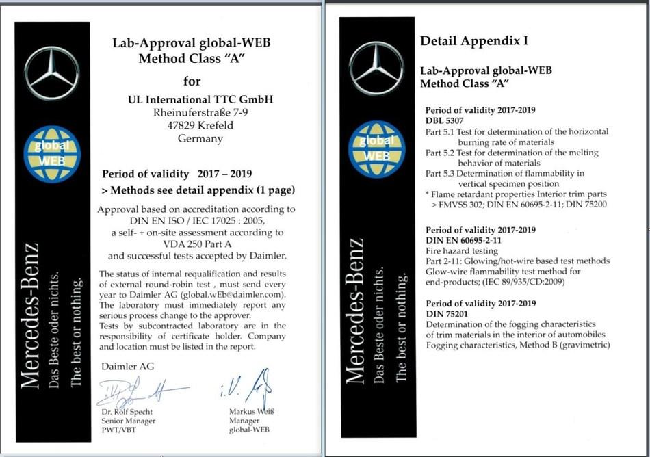 UL Krefeld Certificate
