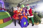Chill Factore hosted the nation's first ever Panto on Snow, a festive performance by the North West Theatre Arts Company surrounded by glistening lights and real snow outside Santa's Grotto. (PRNewsfoto/Chill Factore)