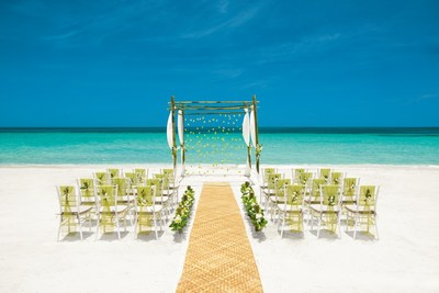 Island Chic, one of eight inspirations now available from Sandals Resorts' new destination wedding program, Aisle to Isle
