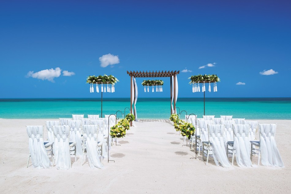 Signature Statement, one of eight inspirations now available from Sandals Resorts' new destination wedding program, Aisle to Isle