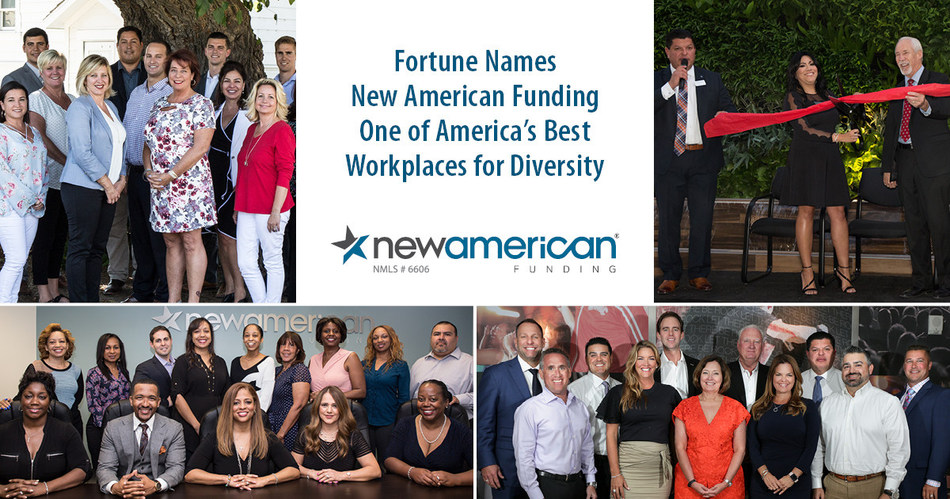 Fortune Names New American Funding One of America's Best Workplaces for Diversity