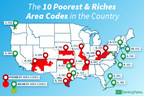 Area Codes Where People Have the Most and Least Money