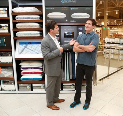 BEDGEAR CEO Eugene Alletto with Dallas Mavs owner Mark Cuban