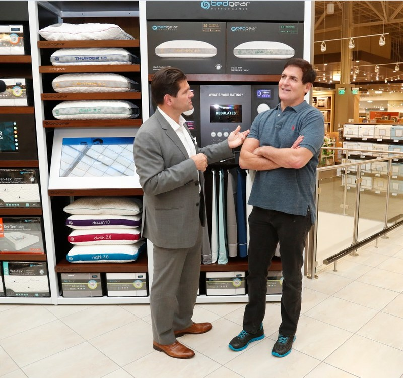BEDGEAR CEO Eugene Alletto with Dallas Mavs owner Mark Cuban
