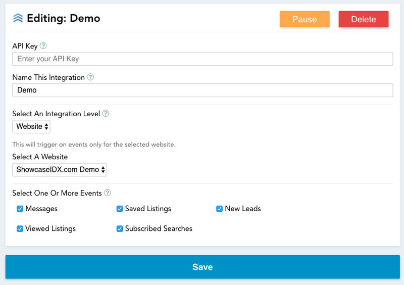 Quickly edit your Showcase IDX / Follow Up Boss integration without any technical knowledge in our Integration Editor.