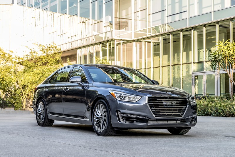 2018 Genesis G90 luxury sedan.