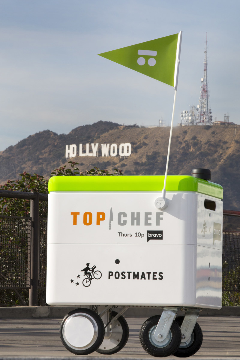 "Bravo's ""Top Chef"" and Postmates, the nation's leading on-demand delivery company, have partnered to give foodies everywhere free delivery on all orders from December 6-8, 2017, to celebrate the season 15 premiere of ""Top Chef"" on Thursday, December 7 at 10 pm ET/PT. This is the first time that robotic rovers have been used to make deliveries in Los Angeles. Follow #topchefrobots on Twitter for live reports of the branded robot deliveries in LA."