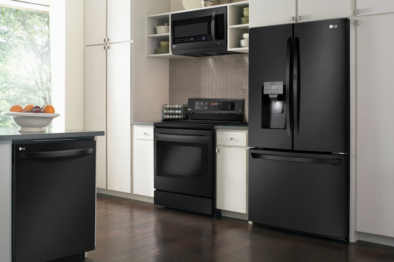 Lg Debuts Matte Black Stainless Steel Finish In New Suite Of Kitchen Appliances