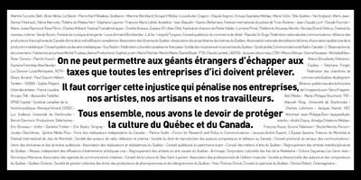 Plus d'une centaine de voix face à l'injustice #100voix (Groupe CNW/100 voix)
