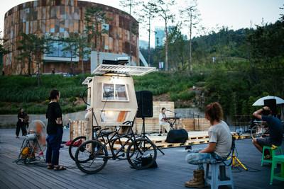 O Mapo Oil Depot Cultural Park possui um complexo cultural ecologicamente correto com um palco a céu aberto.