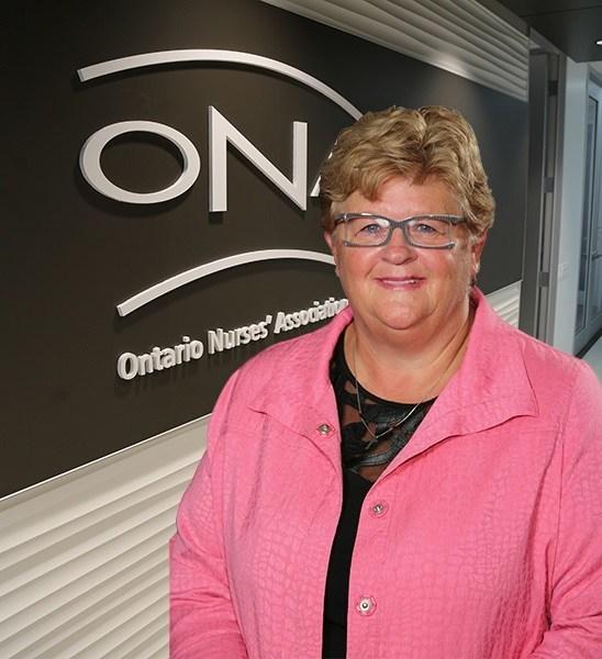 ONA President Linda Haslam-Stroud, RN is celebrating a big win for nurses. (CNW Group/Ontario Nurses Association)