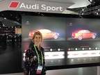 BFFT-of-America-CEO Angelika Eitermoser on location at the L.A. Auto Show. (Source: BFFT) (PRNewsfoto/BFFT Fahrzeugtechnik mbH)