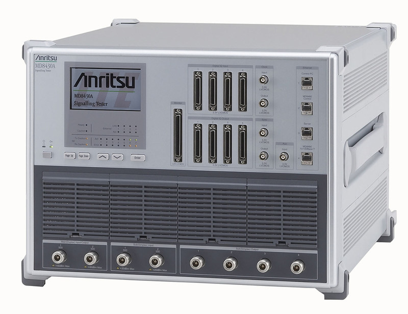 The Anritsu Signalling Tester MD8430A with Rapid Test Designer.