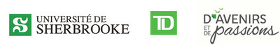 Logos: Université de Sherbrooke, TD Bank Group, Promising Futures, Shared Passions (CNW Group/Université de Sherbrooke)