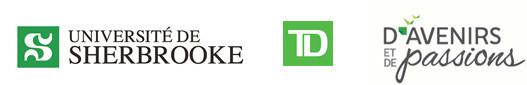 Logos: Université de Sherbrooke, TD Bank Group, Promising Futures, Shared Passions (CNW Group/Université de Sherbrooke)