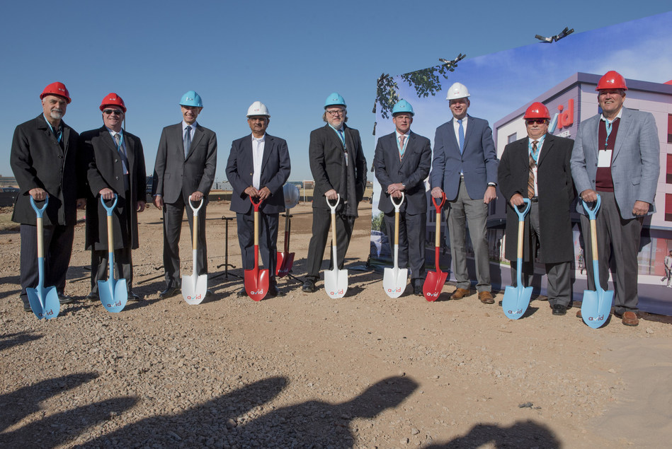 IHG and Oklahoma City based Champion Hotels celebrate the groundbreaking of the first avid hotels with business partners and local dignitaries.