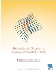 Philanthropic Funding for HIV/AIDS Reached Highest Level to Date in 2016 According to New Funders Concerned About AIDS' Report
