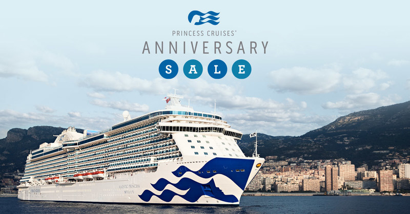 Princess cruises anniversary sale offers up to 600 for Anniversary destinations in us